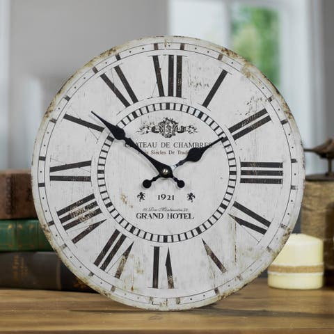 """Chateau Wood Wall Clock 13"""" - As Pictured"""