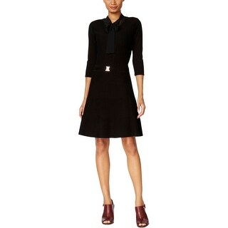 Tommy Hilfiger Womens Sweaterdress Textured Embellished