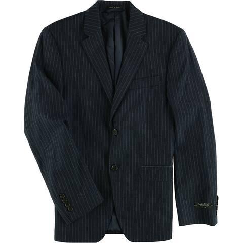 Ralph Lauren Mens Pinstripe Two Button Blazer Jacket