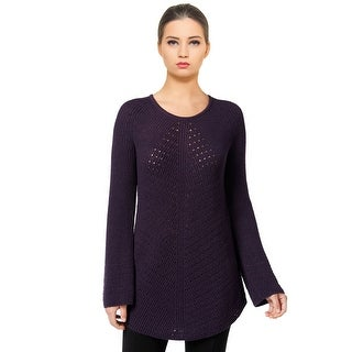 Style & Co. Scoop Neck Long Sleeve Tunic Sweater