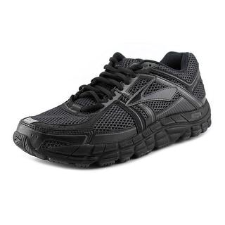 Brooks Addiction 12 Men Round Toe Synthetic Black Running Shoe