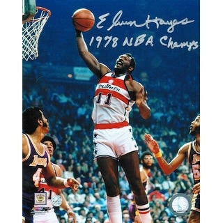 """Autographed Elvin Hayes Washington Bullets 8x10 Photo Inscribed """"1978 NBA Champs"""""""