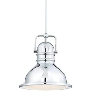 "Westinghouse 63083A Boswell 9"" Wide Single Light LED Mini Pendant with Metal Shade"