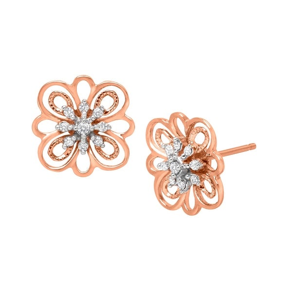 Stud Earrings with Diamonds in 14K Rose Gold