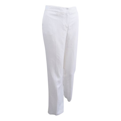 Nine West Women's Neo Classic Linen Pants - White