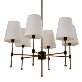 """Park Harbor PHHL6086 Beatty 26"""" Wide 6 Light Single Tier Empire Style Chandelier with Tapered Shades"""