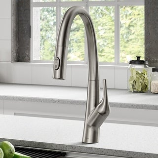 Link to Kraus KPF-2523 Arqo M 1-Hole 1-Handle Pulldown Kitchen Faucet Similar Items in Faucets