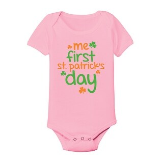 One Piece Me First St. Patricks Day Novelty White Baby One Piece Funny Humor
