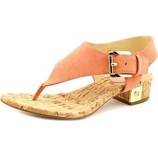 Michael Michael Kors London Thong Women Open Toe Suede Pink Thong Sandal
