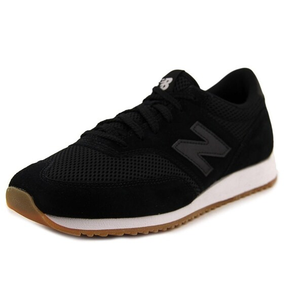 New Balance CM620 Men  Round Toe Leather Black Sneakers