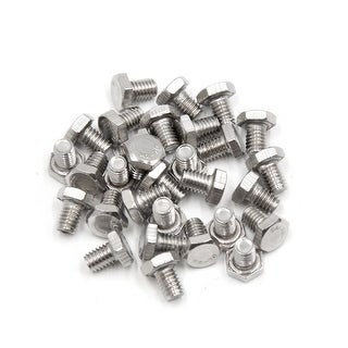30Pcs M6 X 8mm 304 Stainless Steel Motorcycle Hex Socket Head Cap Screws Bolts