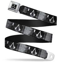 Assassin's Crest Full Color Black White Assassin's Crest Screen Glitch Seatbelt Belt