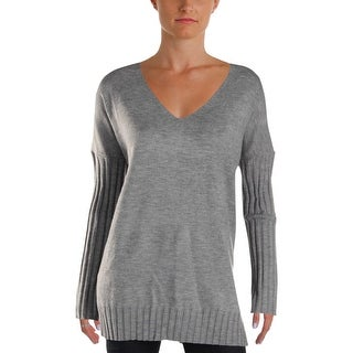 French Connection Womens Pullover Sweater Ribbed Heathered