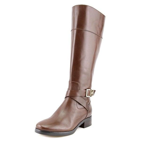 Michael Michael Kors Bryce Tall Wide Calf Women Leather Brown Knee High Boot