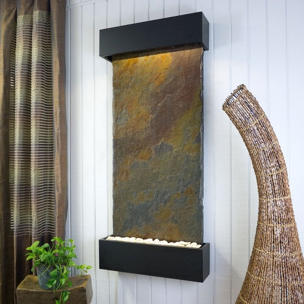 BluWorld Classic Quarry Vertical Indoor Wall Fountain Raja Slate
