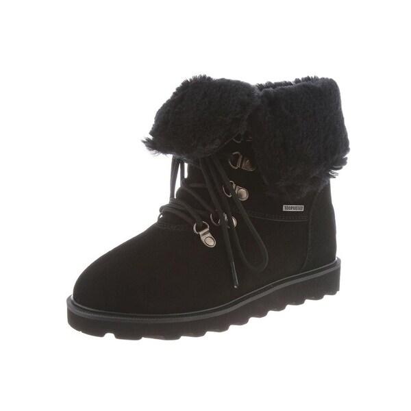 Bearpaw Boots Womens Kayla II Laces Fold Over Wool Waterproof