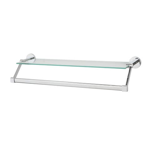 Neu Home Hanging Glass Shelf with Towel Bar - 21.7x6.2x4.75
