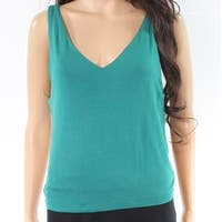LIME BLUE Green Womens Size Small S Sleeveless V-Neck Tank Top