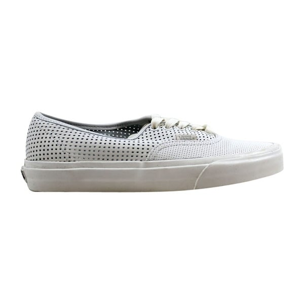 Shop Vans Men S Authentic Dx Square Perf White Vn0a38esmsh