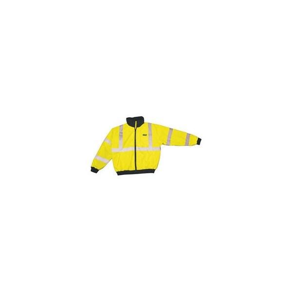 Cordova spj2213xl reptyle hi-visibility lime bomber jacket 3x-large