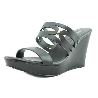 Thalia Sodi Martaa Women  Open Toe Synthetic Black Wedge Sandal