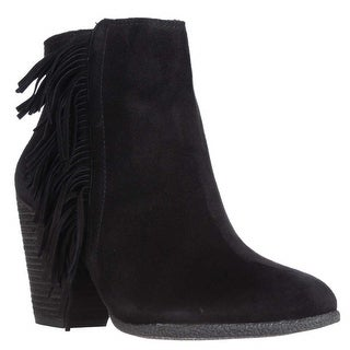 Vince Camuto Hayzee Fringe Ankle Boots - Black