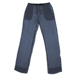 Theory Womens Pajeema Silk Striped Casual Pants - 2