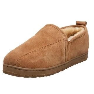 LAMO Mens romeo Faux Fur Closed Toe Slip On Slippers