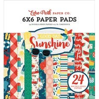 "Echo Park Double-Sided Paper Pad 6""X6"" 24/Pkg-Good Day Sunshine, 12 Designs/2 Each"
