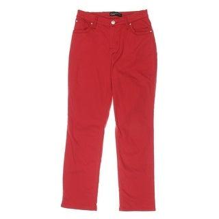 Lee Platinum Label Womens Petites Straight Leg Jeans Colored Wash Straight Leg - 4P