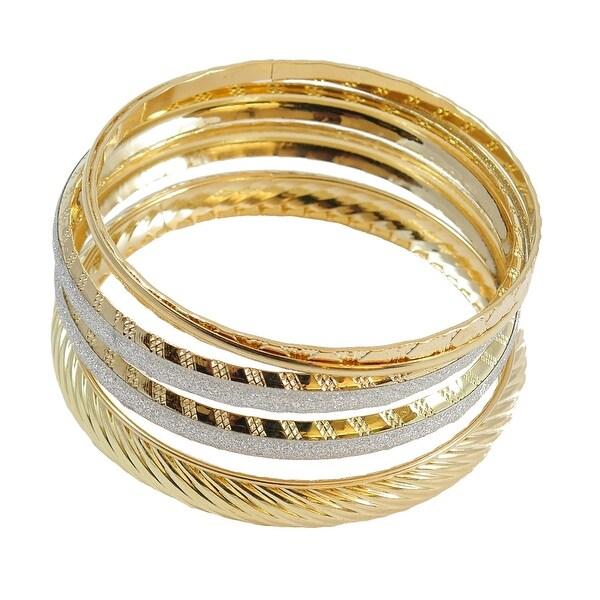 Multi Bangle Bracelet 5-Piece Set Gold
