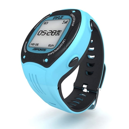 Multi-Function Digital LED Sports Training Watch with GPS Navigation (Blue Color)