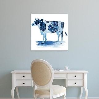 Easy Art Prints Grace Popp's 'Cobalt Farm Animals I' Premium Canvas Art