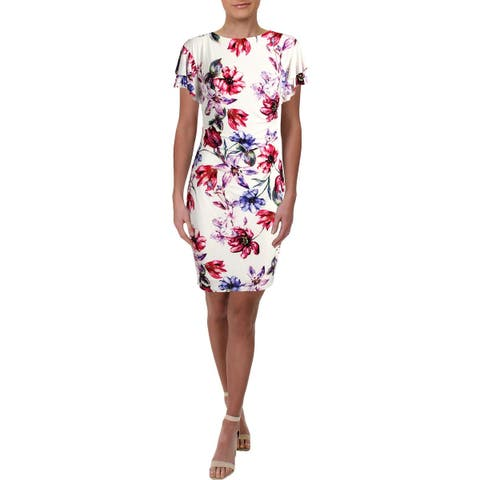 49471438ee2 Lauren Ralph Lauren Womens Latoya Party Dress Knee-Length Floral Print