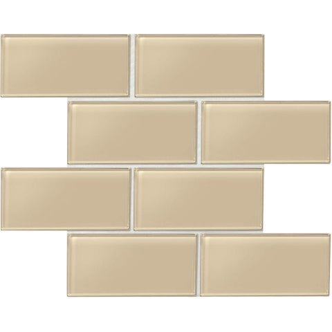 "Daltile AM36L Amity - 6"" x 3"" Subway Wall Tile - Smooth Glass Visual - N/A"