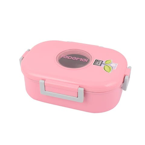 Household Porridge Soup Noodles Bowl Container Lunch Box Pink 980ml Capacity