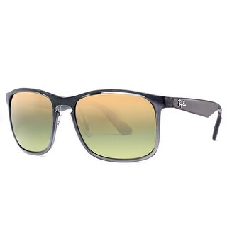 Ray Ban RB4264 876/6O Grey Polarized Green Mirror Chromance Square Sunglasses - Transparent Grey - 58mm-18mm-145mm