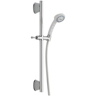 "Delta 51539 Universal Slide Bar with Single Function Handshower and 70"" Hose - Less Wall Supply"