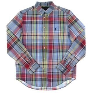 Ralph Lauren Boys Button-Down Shirt Boy's Plaid - L https://ak1.ostkcdn.com/images/products/is/images/direct/f697019ce87c223c906ef36a8118ae6ff85880d2/Ralph-Lauren-Boys-Button-Down-Shirt-Boy%27s-Plaid.jpg?impolicy=medium