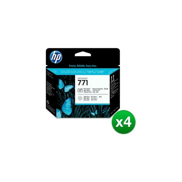 HP 771 Original Printhead Black & Light Gray (CE020A)(4-Pack)