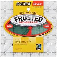 """6-1/2""""X6-1/2"""" - Olfa Frosted Advantage Non-Slip Ruler """"The Compact"""""""