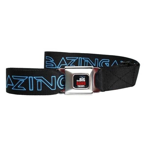 Big Bang Theory Tron Bazinga Seatbelt Belt-Holds Pants Up