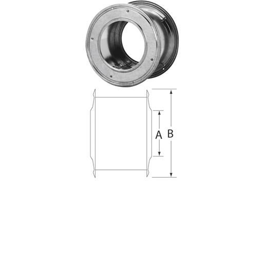 Selkirk 6 Gas Pipe Wall Thimble 6RV-WT Unit: EACH