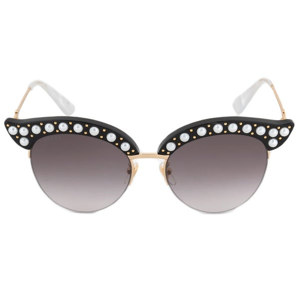 d6d8567ec910b Shop Gucci Gucci Cat Eye Sunglasses GG0212S 001 53 - Free Shipping ...