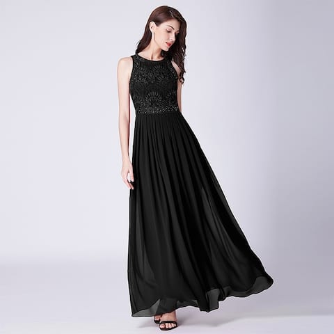 4e65004a6d96 Ever-Pretty Women's Lace Long Formal Evening Bridesmaid Party Dress for  Women 07391
