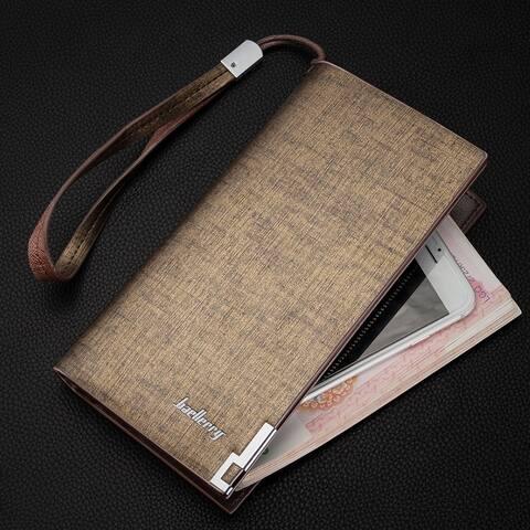 Men's Long Wallet Multifunction Zipper Clutch