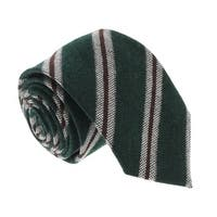 Missoni U5145 Green/Brown  Regimental  100% Silk Tie - 60-3