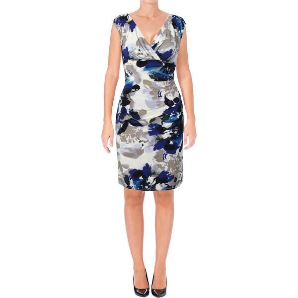 8579cb70 Shop Lauren Ralph Lauren Womens Adara Cocktail Dress Printed Sheath ...