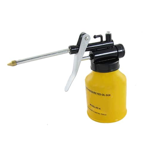 Unique Bargains Yellow Aluminium Bottle High Pressure Feed Oil Gun Irclp