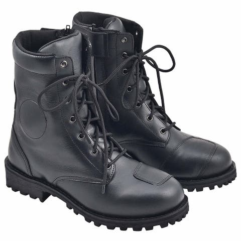 WICKED STOCK Mens Touring Sport Boots - Black